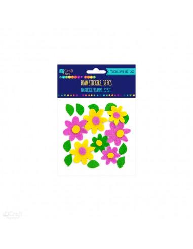 Lipdukai DP CRAFT 3D Gėlės iš putų 31 vnt - 1