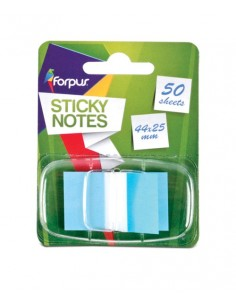 Lipnūs žymekliai FORPUS 44 x 25 mm 50 lapelių mėlyni - 1