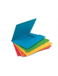 Aplankas FORPUS A4 dokumentams kartoninis 400 g/m2 su guma geltonas - 1