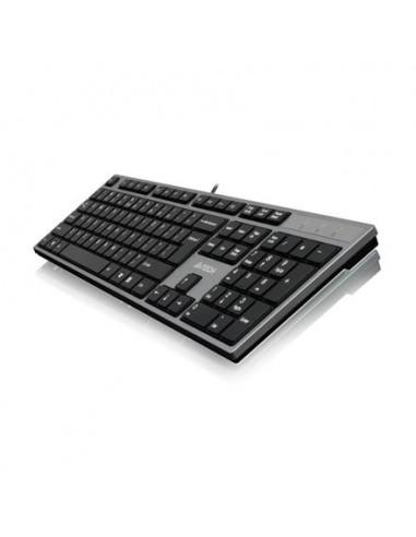 Klaviatūra A4TECH KD-300 X-Slim  USB US/LT sidabrinė - 1