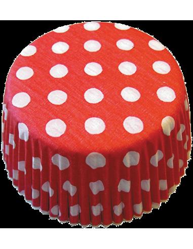Keksiukų forma Staufen taškeliai raudona - balta 50x25 mm 60vnt. - 1