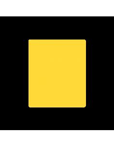 Lipni etiketė stačiakampis 50 x 59 mm geltona - 1