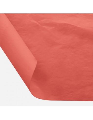 Šilkinis popierius BESTTOTAL Nr. 20 50 x 70 cm 22-23 gr coral red/koralinė 30 lapų - 1