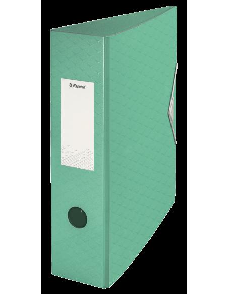 Segtuvas Esselte Colour'Ice Polyfoam A4 75 mm su svertiniu mechanizmu iš tvirto plastiko su gumele žalias - 1