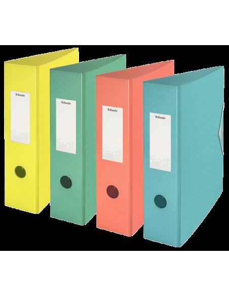 Segtuvas Esselte Colour'Ice Polyfoam A4 75 mm su svertiniu mechanizmu iš tvirto plastiko su gumele žalias - 2