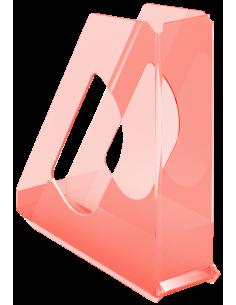 Stovas dokumentams ESSELTE Colour'Ice plastikinis skaidrus persikų spalvos - 1