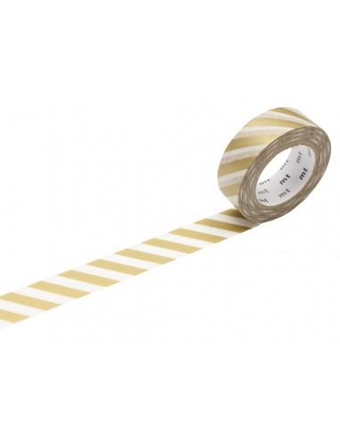 Lipni dekoratyvinė juostelė MT 1P deco 15 mm x 10 m stripe gold - 1