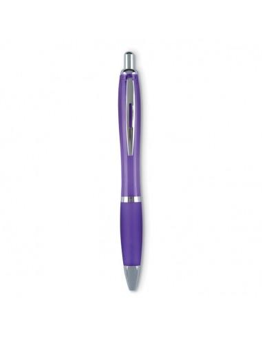 Tušinukas RIOCOLOUR plastikinis violetinės ir sidabro spalvos detalėmis juodas - 1