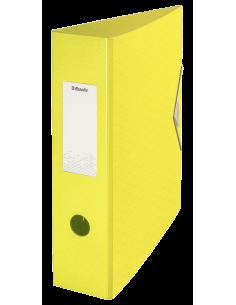 Segtuvas Esselte Colour'Ice Polyfoam A4 75 mm su svertiniu mechanizmu iš tvirto plastiko su gumele geltonas - 1