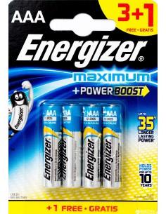 Šarminės baterijos ENERGIZER Maximum AAA LR03 3 + 1 vnt - 1