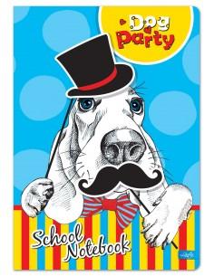Sąsiuvinis LASTVA Dog Party A5 langeliais 52 lapų - 1