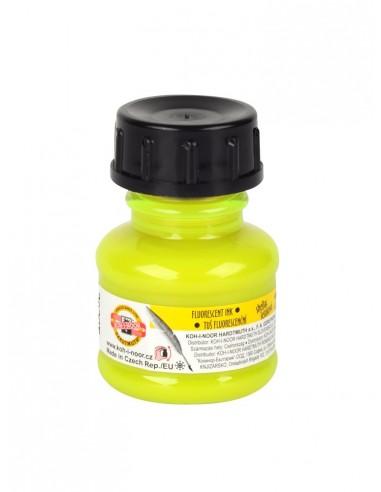 Tušas fluorescencinis geltonas, 20 ml., Koh-I-Noor - 1