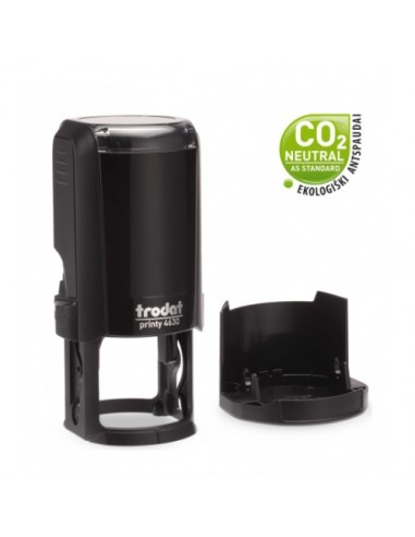 Antspaudas TRODAT T4630 ECO apvalus 30 mm juodas - 1