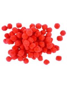 Bumbuliukai PAULA S.C. Pom-Pom akriliniai raudoni 1 cm 1000 vnt. - 1