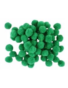 Bumbuliukai PAULA S.C. Pom-Pom akriliniai žali 1 cm 2000 vnt. - 1