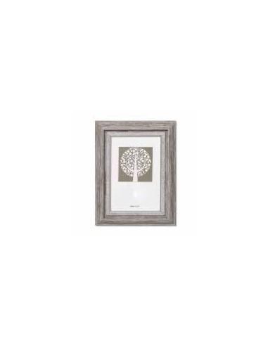 Rėmelis NATALI plastikinis 21 x 29.7 cm pilkas su sidabro detalėmis - 1