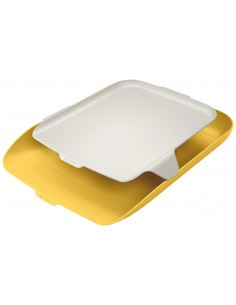 Lentynėlė dokumentams LEITZ Cosy su papildoma lentynėle šilta geltona - 1