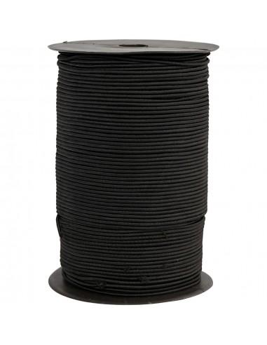 Elastinė virvelė CREATIV COMPANY 2 mm pinta apvali juoda 250 m. - 1