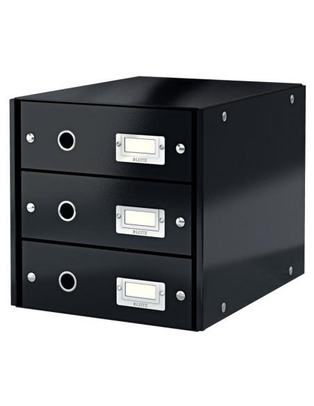 Dokumentų spintelė LEITZ Click & Storage 3 stalčiai 286 x 282 x 358 mm juoda - 1