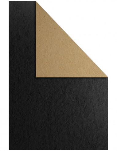 Popierius EKO Kraft dvipusis kartonas A4 500 gsm rudas su juodu - 1