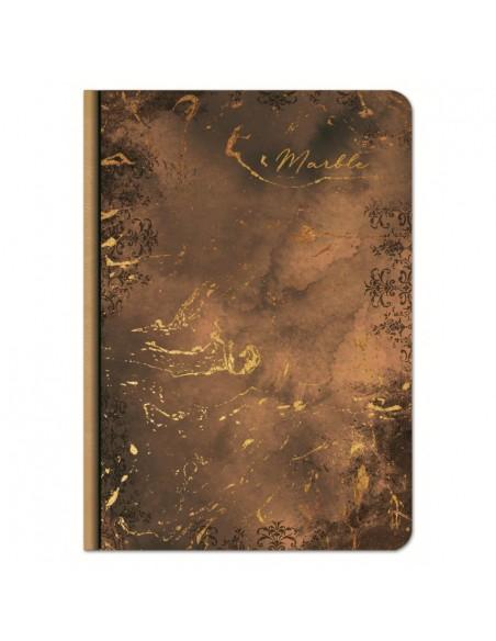 Užrašų knygutė LASTVA Marble A5 kietu viršeliu linija 100 lapų - 1