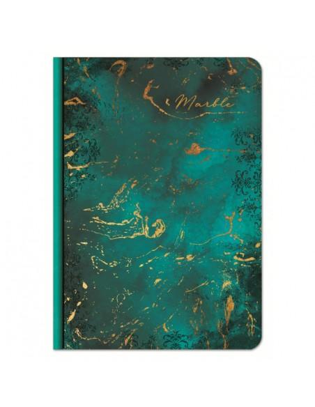Užrašų knygutė LASTVA Marble A5 kietu viršeliu linija 100 lapų - 2