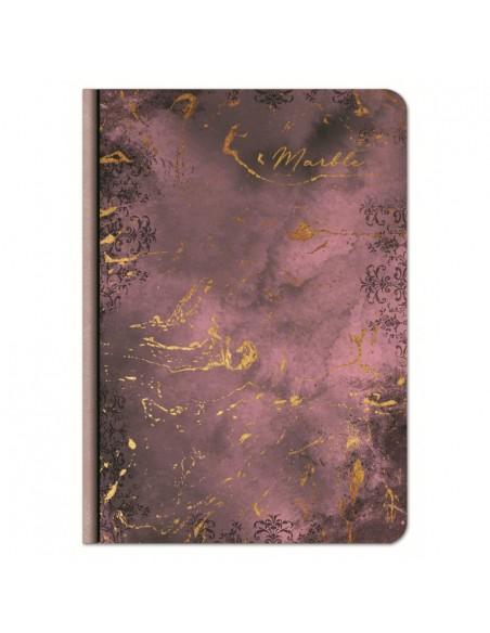 Užrašų knygutė LASTVA Marble A5 kietu viršeliu linija 100 lapų - 3