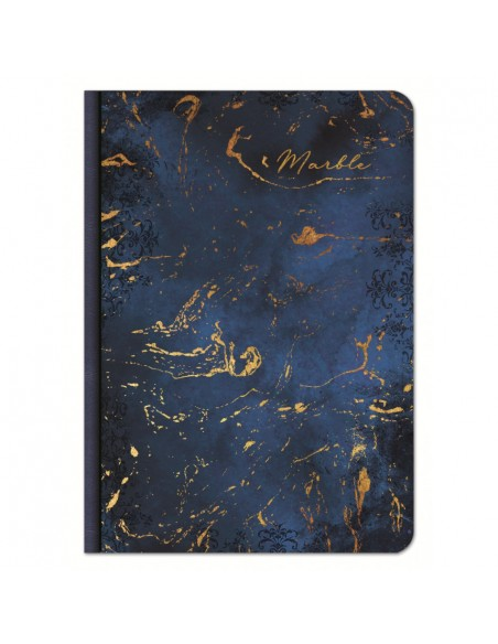 Užrašų knygutė LASTVA Marble A5 kietu viršeliu linija 100 lapų - 4