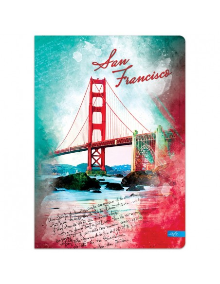 Sąsiuvinis LASTVA Voyage A5 langeliais 96 lapų - 3