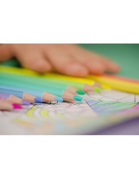 Spalvoti pieštukai KORES Kolores Pastel trikampiai 24 spalvų - 4