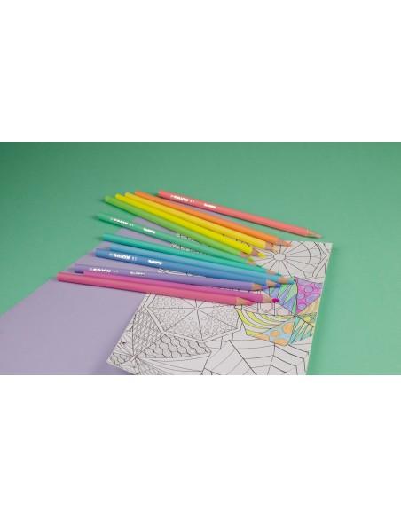 Spalvoti pieštukai KORES Kolores Pastel trikampiai 24 spalvų - 5