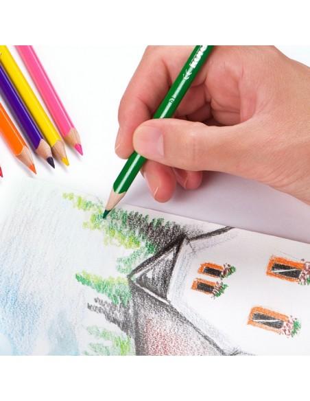 Spalvoti pieštukai KORES Kolores trikampiai su drožtukų 36 spalvų - 3